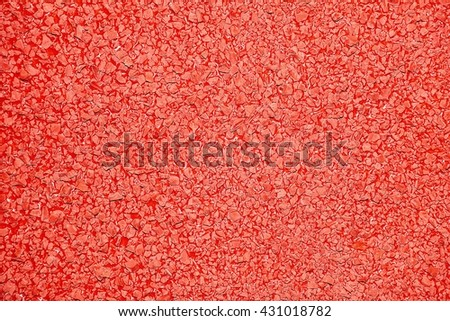 Close up of red rubber floor background  Soft rubber flooring rubber texture rubber  material  - stock photo