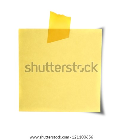 Close up of reminders on white background - stock photo