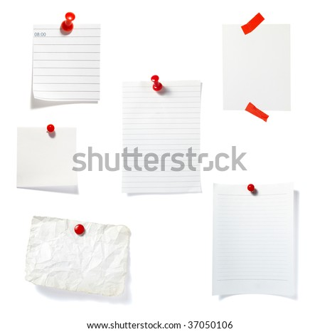 close up of  reminders on white background. each one is in full cameras resolution - stock photo