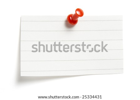 close up of reminders on white background with clipping path - stock photo