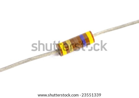 Close up of resistor