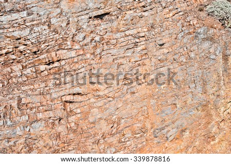 Close up of rock formations - stock photo