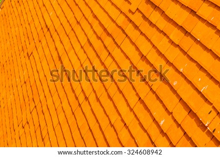 Close up of roof ceramic, Thailand. - stock photo