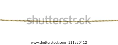 close up of rope part on white background - stock photo