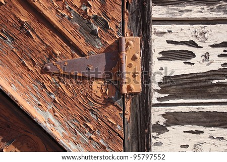 Close-up of Rusty Hinge