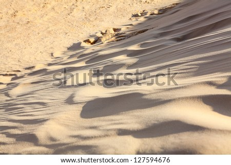 Close up of sand dune in Sahara desert - stock photo