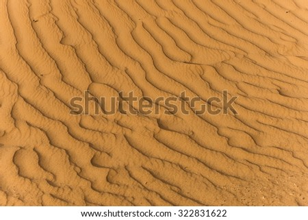 close up of sand dune in the sahara - stock photo