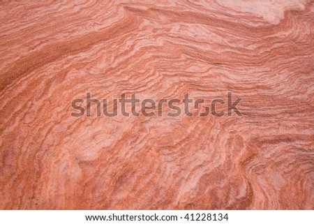 Close up of sandstone rock formation. - stock photo