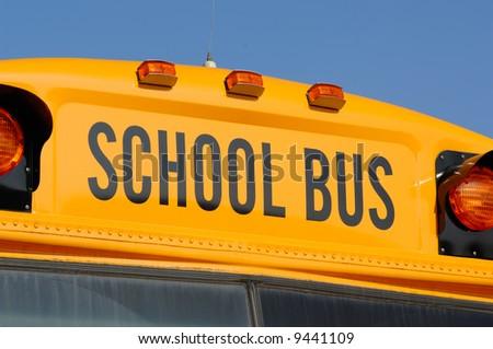 Close up of school bus - stock photo