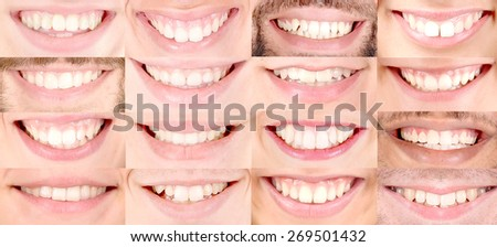 close up of several smiles of different people