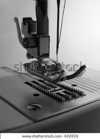 Close up of Sewing Machine, vertical
