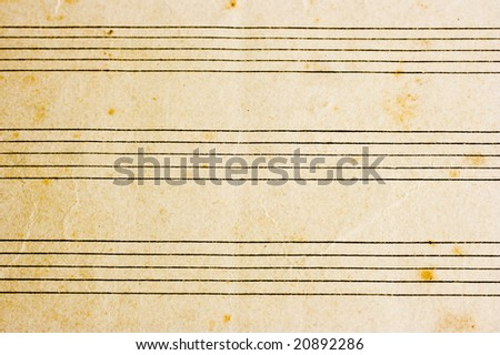 close-up of sheet music - stock photo