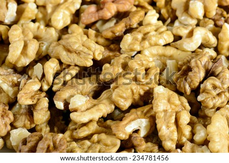 close up of shelled walnuts