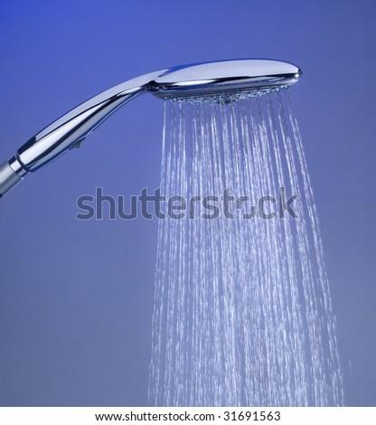 Close-up of showerhead - stock photo