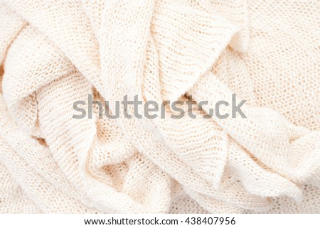 close up of soft wool textile background - bright pastel tone