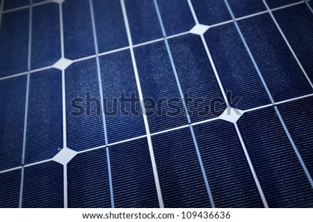 Close up of Solar Panel. - stock photo