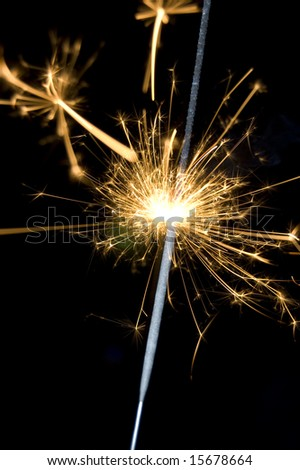 Close-up of Sparkler - stock photo