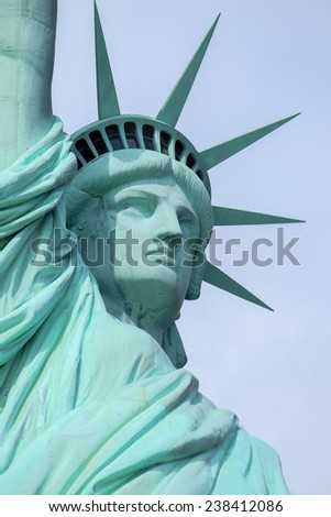 close up of statue of liberty, New York City