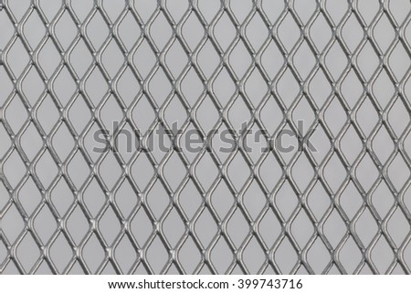 Close up of steel mesh texture pattern use for background