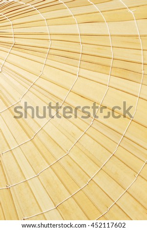 Close Up of Straw Hat Surface Pattern and Texture Background  - stock photo