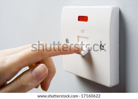 Close Up Of Switch Being Activated