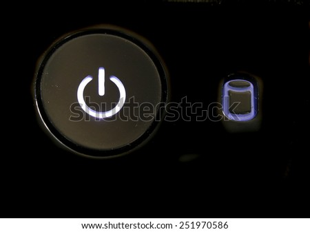 close up of Switch on - off - stock photo
