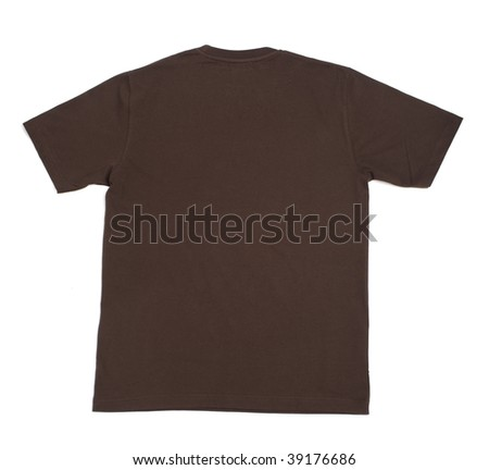 close up of  t shirt on white background - stock photo