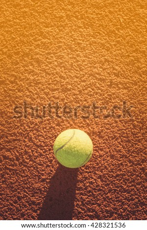 Close up of tennis ball. green color tennis ball. single tennis ball. tennis ball from Thailand. tennis ball vivid tone. the new tennis ball. beautiful tennis ball. Tennis ball on a tennis court - stock photo