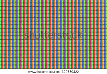 Close up of TFT monitor - stock photo