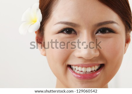close up of the  asian beauty - stock photo