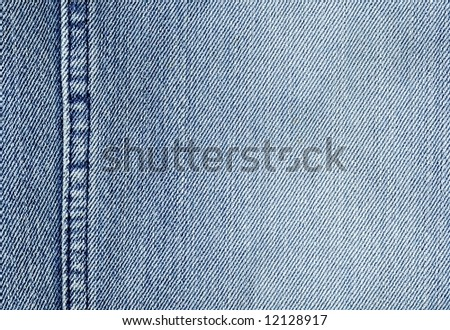 close-up of the blue jeans cloth - stock photo