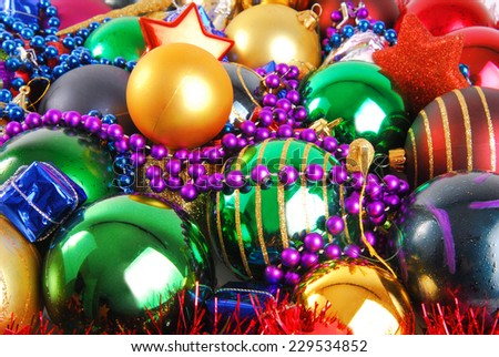close up of the christmas bauble - stock photo