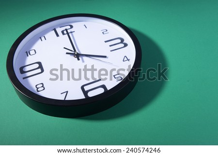 close up of the clock - stock photo