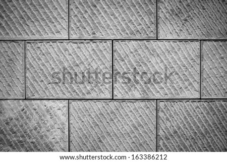Close up of The detail texture of stone wall - stock photo