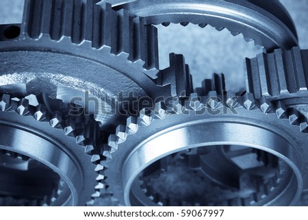 close up of the gears(teamwork concept) - stock photo