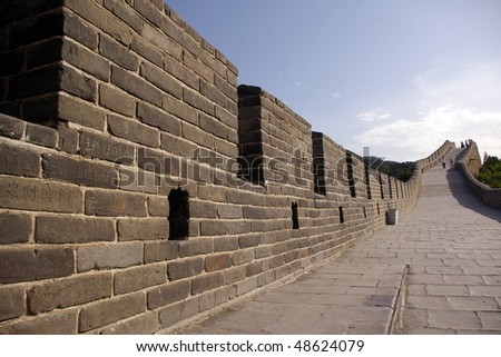 Close-up of the Great Wall
