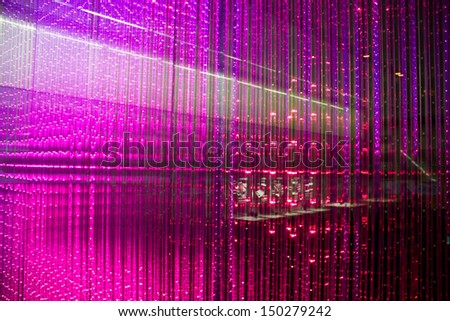 Close-up of the Matrix of a Screen made of multiple LEDs - stock photo