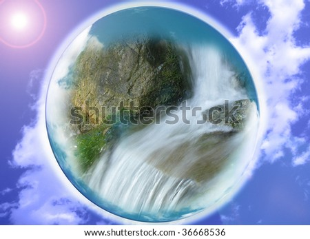 close up of the planet - stock photo