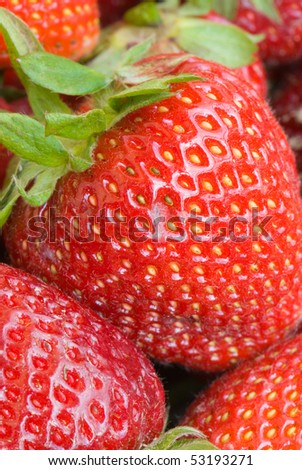 Close up of the strawberry