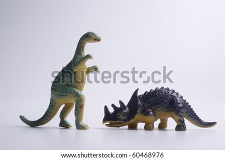 close up of the toy dinosaur