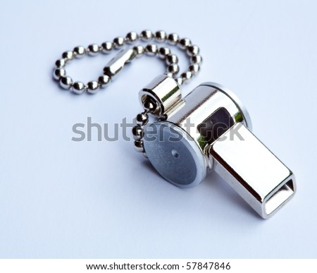close up of the whistle