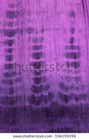 Close up of tie dye hippy fabric - stock photo