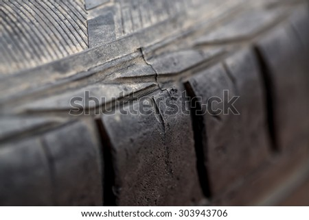 Close-up of Tires stack,Background texture of used car tire - stock photo