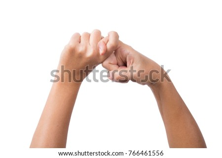 Close-up of two hands doing a pinky swear gesture