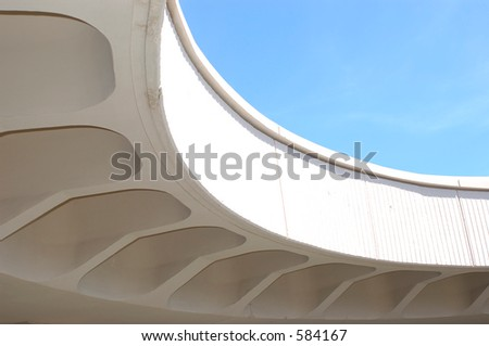 close up of underside of bridge - stock photo