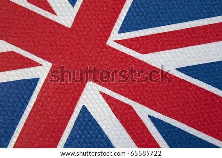 Close up of Union Jack Flag on Tilted Angle
