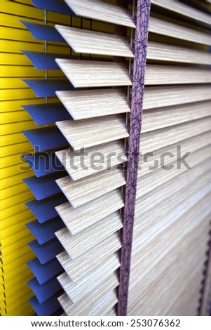 Close up of Venetian blinds inside a house - stock photo