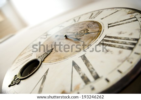 Close up of vintage clock - stock photo