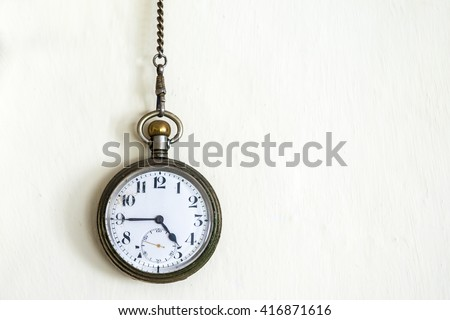 Close up of vintage pocket watch - stock photo