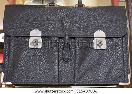 Close up of vintage schoolbag  - stock photo